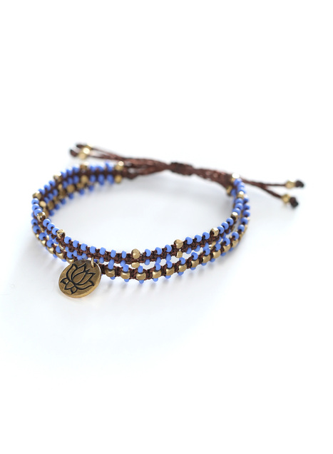 Blue Note Bracelets, Set Of 2