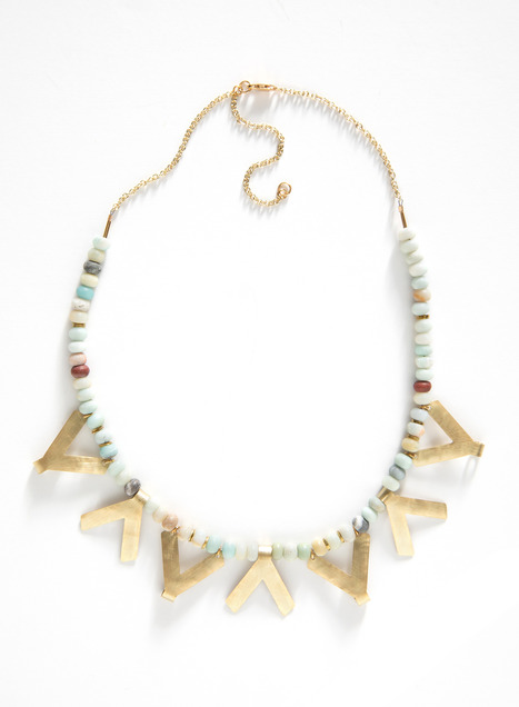 Qala Amazonite Bead Necklace
