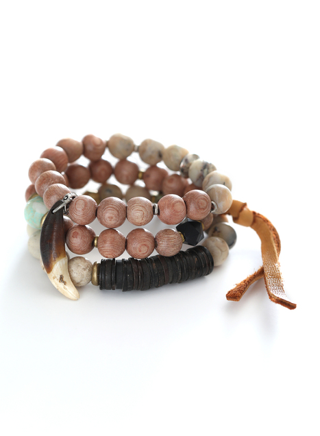 Earthen Elements Stretch Bracelets, Set Of 3