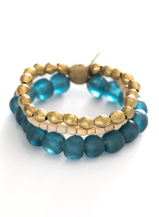 Nefertiti Three-Strand Stretch Bracelet