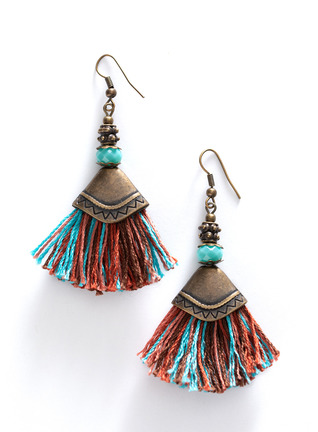 Oud Tassel Earrings