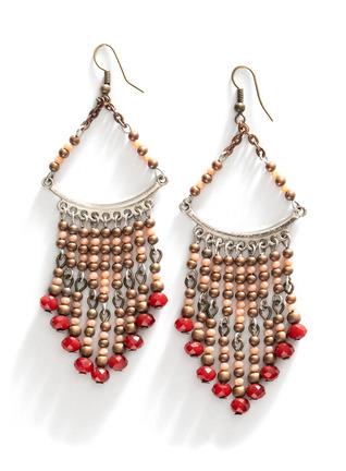 Beaded Trapeze Earrings