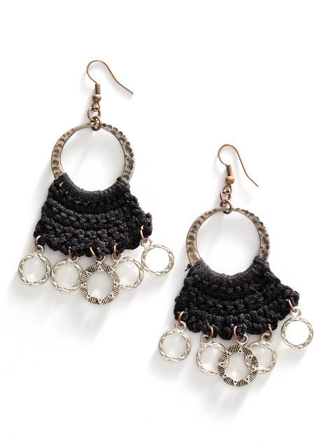 Crocheted Circle Earrings