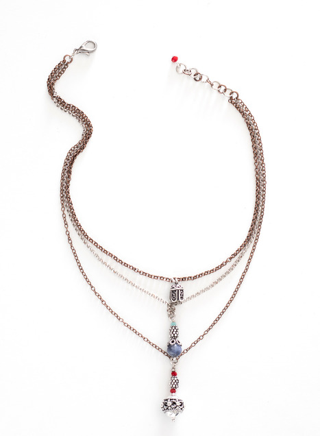 Tunisian Charm Necklace
