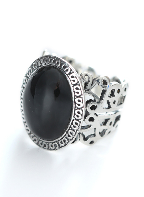 Blackstone Filigree Ring