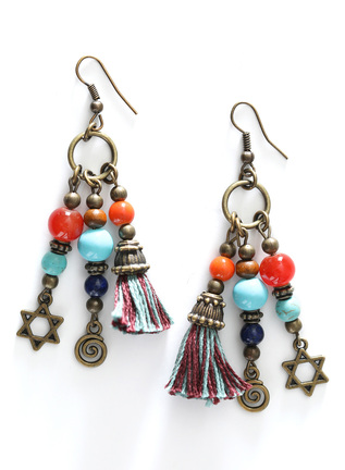 Charms And Tassels Earrings