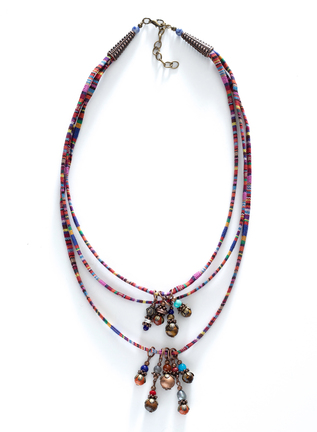 Manta-Striped Beaded Necklace