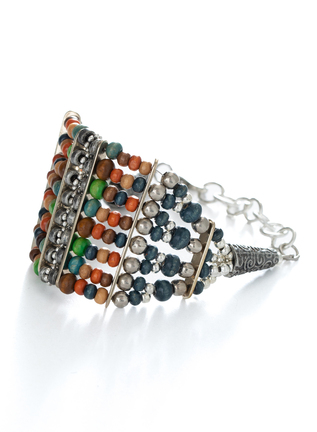 Abacus Beaded Cuff Bracelet