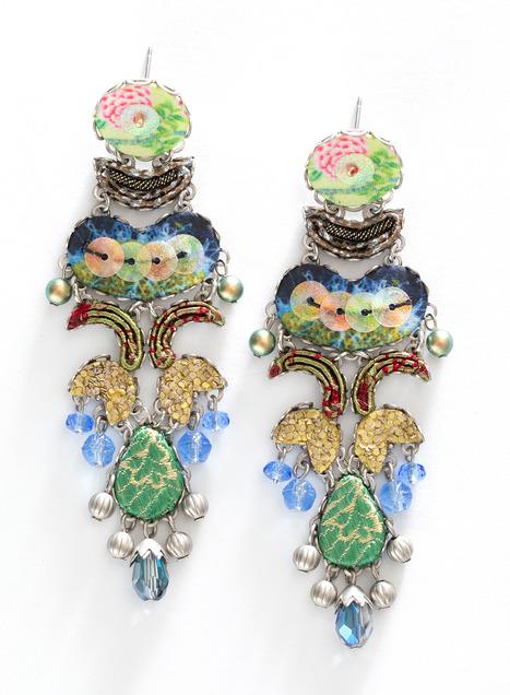 Spring Peony Earrings