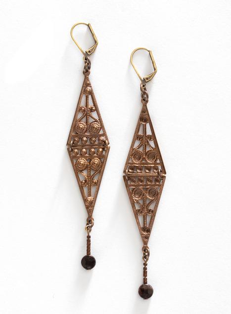 Empire Garnet Earrings