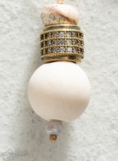 Stone Orb Earrings