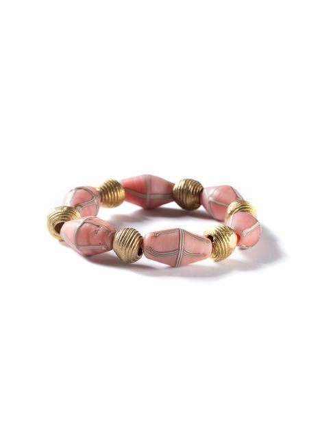 Captiva Pink Glass Stretch Bracelet