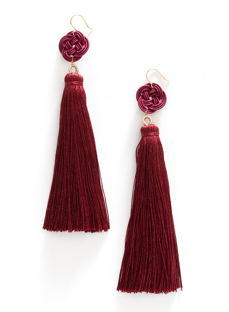 Chinese Knot Tassel Earrings