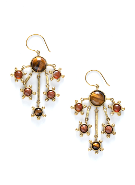 Sunburst Chandelier Earrings