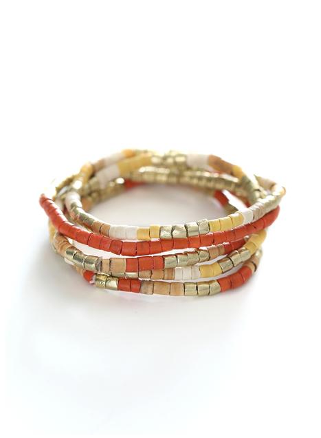 Mandarin Stretch Bracelets, Set Of 5