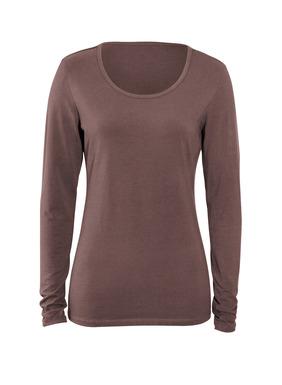 Unser beliebtes lagen-T-Shirt für alle Jahreszeiten, ein unentbehrliches Basic aus Pimabaumwolle (95 %) mit Lycra® (5 %). Je nach Wunsch lang oder geknautscht tragbar.