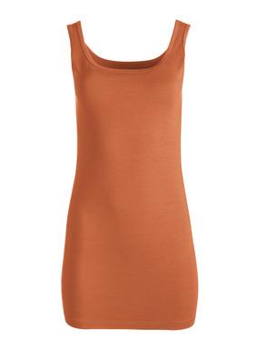 Unser beliebtes Langes Top ist aus einem weichen, elastischen Jersey aus Pimabaumwolle (93 %) und Lycra® (7%) genäht.