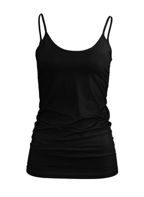 A smooth camisole in stretchy pima (93%) and Lycra® (7%) jersey. Spaghetti straps; scoop neck.