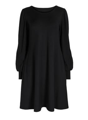 Gebauschte Ärmel verleihen unserem bequemen T-Shirt-Kleid besondere Romantik. Aus Pimabaumwolle (49 %), Modal (47 %) und Elasthan (4 %), an den Schultern eng anliegend und zu einem fließend fallenden, weiten Rock mit Taschen ausgestellt.