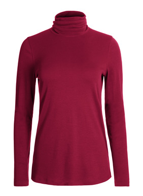 Our bestselling, easy-cut t-neck is sewn of velvety pima interlock, with side slits.