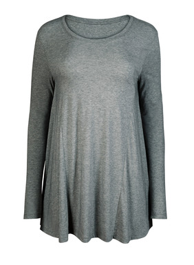 Embodying all that's relaxed and easy, our bestselling top in heathered pima jersey has slim sleeves, princess seaming and a curved, floataway hem.