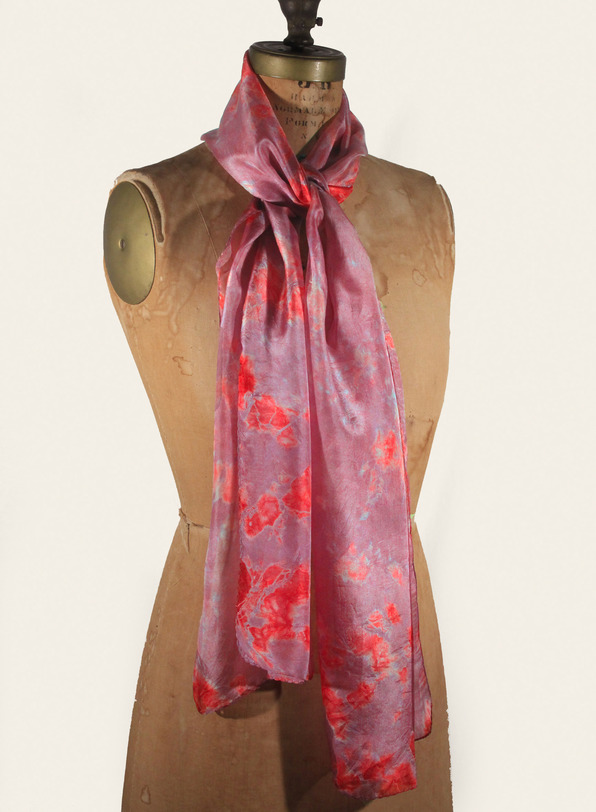 Rosewater Tie-Dye Silk Scarf