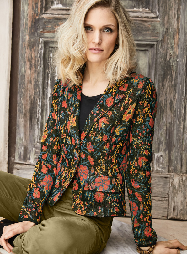 Pima Cotton Chintz Knit Jacket