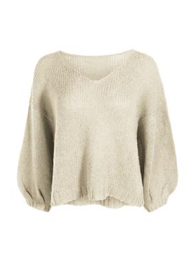 Unser kurzer, hauchzarter Pullover mit V-Ausschnitt ist himmlisch über Kamisols oder Sommerkleidern. Aus leichtem Alpaka (41 %), Pimabaumwolle (32 %), Nylon (23 %) und Wolle (4 %) lose gestrickt, mit überschnittenen Schultern, 7/8-Blousonärmeln und gerippten Kanten.