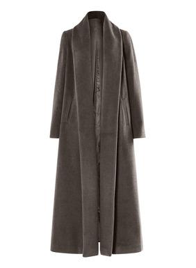 Mühelos elegant: Dieser effektvolle Mantel ist ein Begleiter fürs Leben. Mit knöchellanger Silhouette, langer Kellerfalte hinten, Taschen und knopflosem Schalkragen bis zum Saum. Aus einem samtigen, üppigen Flor aus Babyalpaka (72 %), Wolle (26 %) und Nylon (2 %) geschneidert; voll gefüttert.