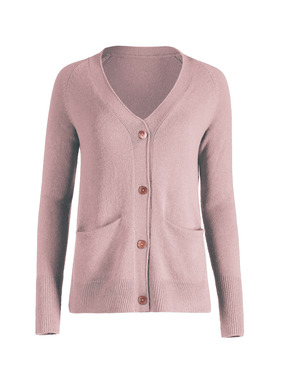 Pure luxury for cool spring days, the classic cardigan is knit of cloud-soft, woolen-spun royal alpaca. Full-fashioned with a deep v-neck, raglan sleeves, front pockets and ribbed trim.