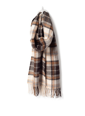 The perfect accent and a cheery gift of luxury, our plaid scarves in cloud-soft baby alpaca.