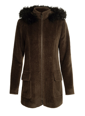 If you invest in one piece of outerwear this season, this luxurious coat should be it. Irresistibly soft and cozy, it's tailored in an ultra-plush pile of suri alpaca (70%), wool (27%) and nylon (3%). Styled with a stand collar, 2-way zip closure, princess seaming and flap pockets. The detachable hood is trimmed with fabulous alpaca fur and secured with snaps that are concealed when not in use. Fully lined with our signature magnolia print.