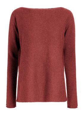 Einfach traumhaft: Unser schlichter Pullover aus hauchdünnem Alpaka-Royal-Streichgarn ist himmlisch weich und leicht. Bequeme Passform; U-Boot-Ausschnitt; angeschnittene Ärmel; Rollkanten.