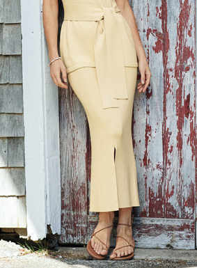 "Polished, packable chic. The rib knit skirt is styled with front and back slits for easy movement.  Pair with the <a href=""/product/759452-antibes+pima+cotton+top.do"">matching top for an elegant ensemble (sold separately)</a>."