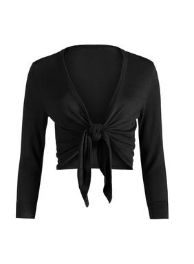 Eine bequeme leichte Lage: Der Feinstrick-Cardigan mit ¾-Ärmeln wird in der Taille gebunden; Pimabaumwolle (51 %) und Modal (49 %). Knopflose Blende.
