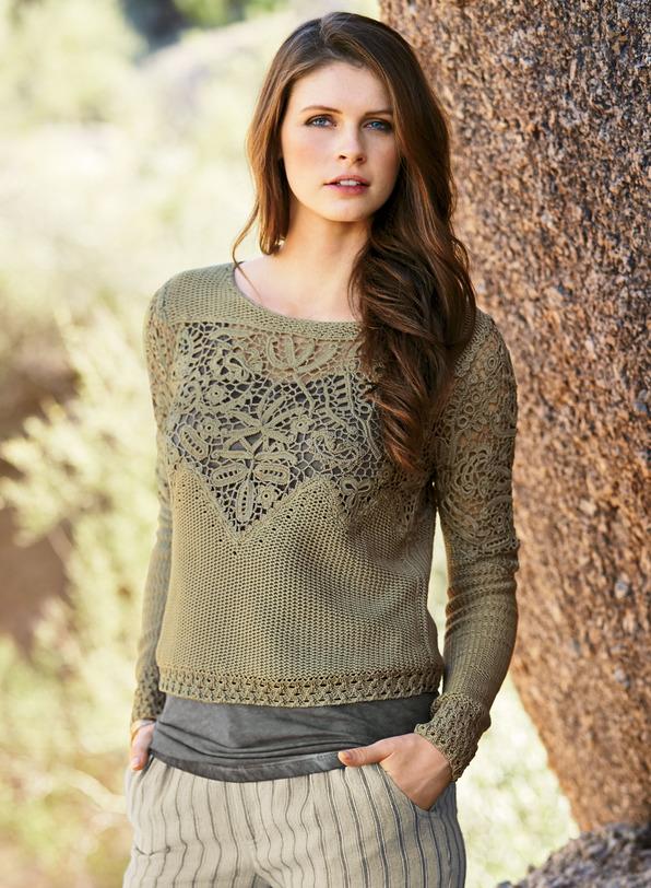 Desert Rose Pima Cotton Pullover