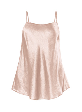 In shimmery silk that's been washed for rich texture, our swingy, fit-and-flare cami can be worn tucked in or loose and floating. A seasonless layer, with a scoop neck and adjustable spaghetti straps.