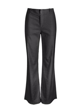 Die elegante weite Hose aus 53 % Leinen, 45 % Baumwolle und 2 % Elasthan ist mit weicher Worn-Textur vorgewaschen. Flache Front mit Reißverschluss; Taschen vorn; Eingrifftaschen hinten.