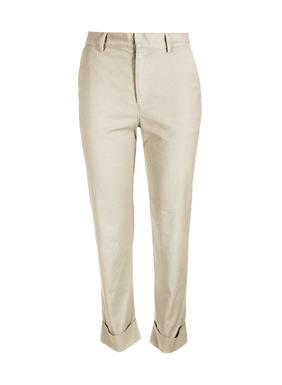 Neu in dieser Saison: Unsere Hose mit flacher Front und Beinaufschlag ist aus vorgewaschenem Leinen (53 %), Baumwolle (45 %) und Elasthan (2 %). Bequeme Passform, Taschen vorn, Eingrifftaschen hinten und 7/8-Saum.
