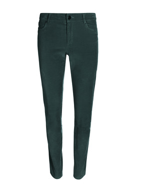 Fabulous for the cooler weather, our bestselling pants are soft, stretchy velveteen, with a slim fit and classic five-pocket styling. Cotton (90%), polyester (8%) and elastane (2%).