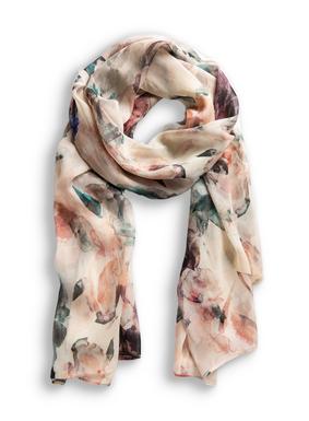 Der federleichte Viskose-Schal ist mit unserem Original-Aquarell-Blumenmuster bedruckt.