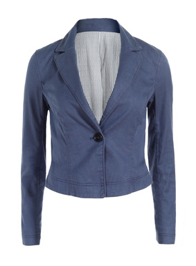 Our bestselling cropped jacket style is refreshed for warmer days in garment-washed linen (53%), cotton (45%) and elastane (2%). Tailored with a single button closure, shapely seaming and vented cuffs.