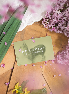 Always the perfect gift…a gift card mailed along with our current catalogue and beautifully presented in an elegant folder with a personalized message.  May be redeemed through our website, catalogue or store, available in denominations of £15 - £500.