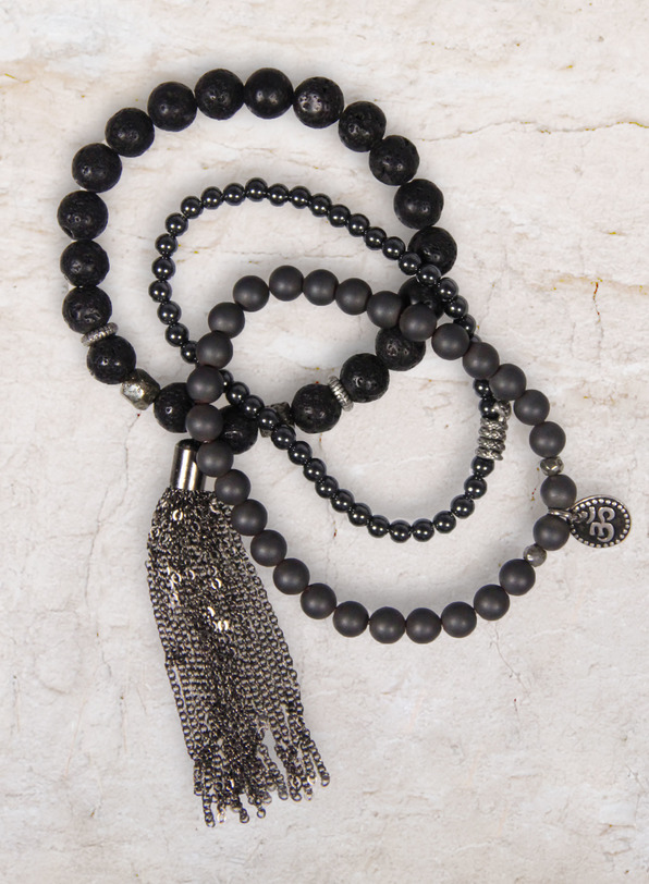 Beau Soir Bead Bracelets, set of 3