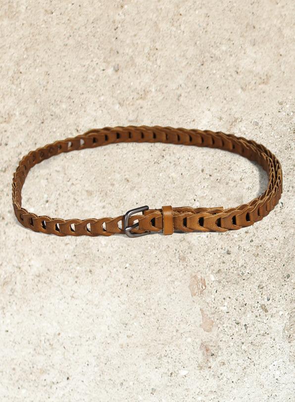Tab-link Leather Belt