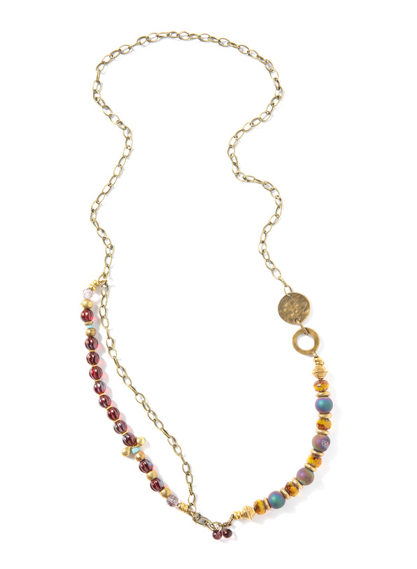 Delfina Mixed Bead Necklace