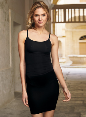 Spanx® fabulous shapewear is constructed with ultra-flat edges, cool microfiber fabrics and no-slips to keep you looking sleek and smooth under sheer knits. Cami features compression-free fabric in the bust.