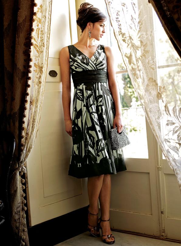 Silk Bamboo Forest Dress
